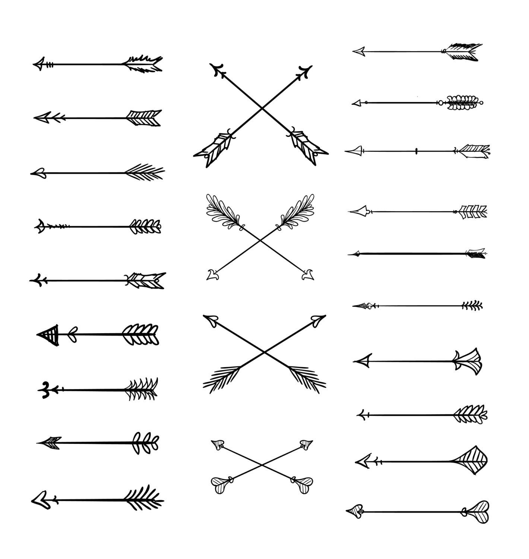Arrow clipart artistic jpg black and white Artistic arrow clipart - ClipartFest jpg black and white