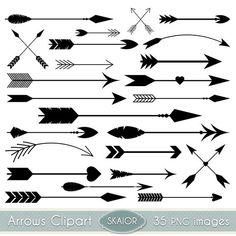 Arrow clipart artistic banner free download Arrows clip art, tribal arrow clipart, archery hand drawn arrows ... banner free download