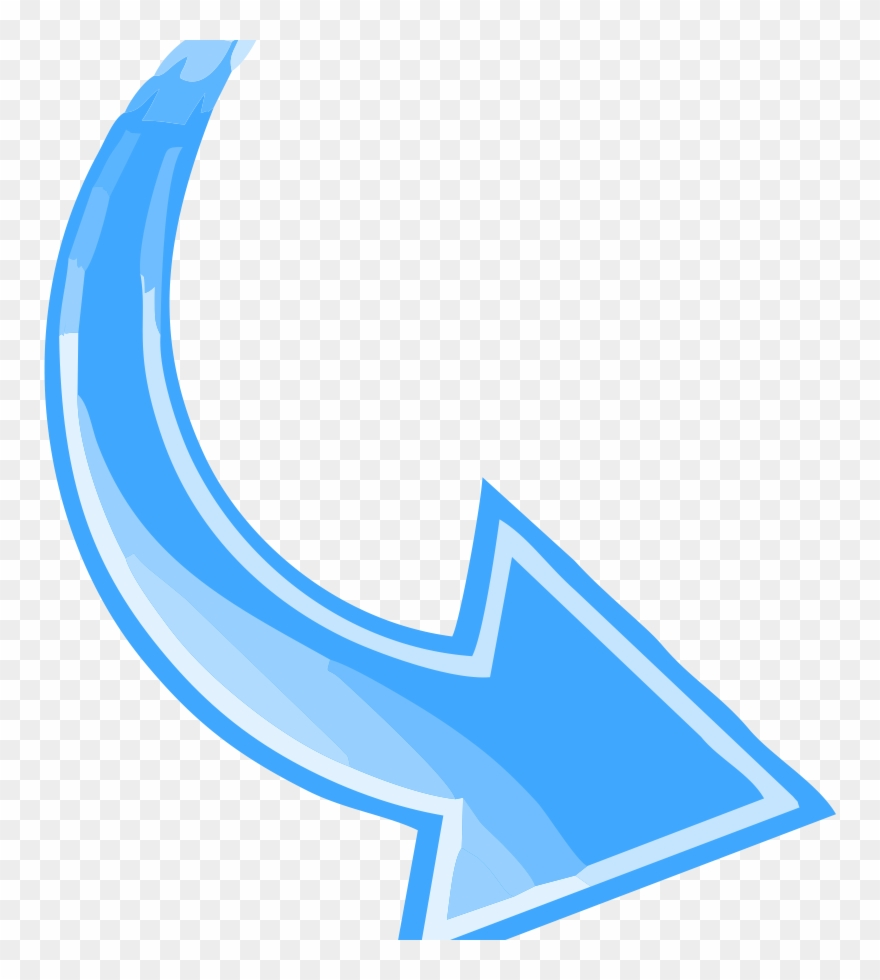 Arrow clipart curved svg free Blue Curved Arrow Clipart (#2746463) - PinClipart svg free