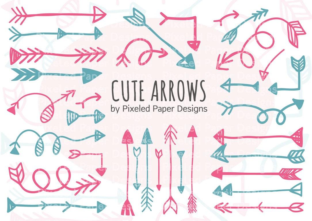 Free clipartfest arrows doodles. Arrow clipart cute