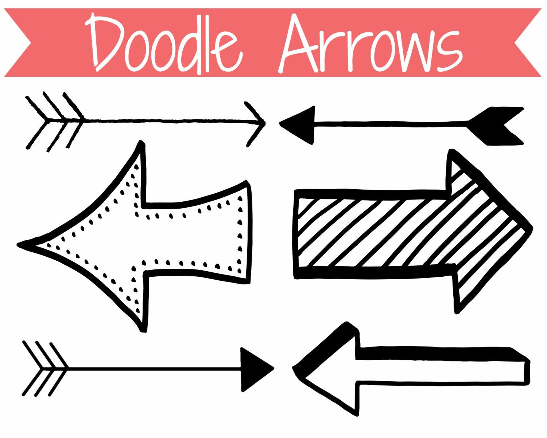 Kid clip art doodle. Arrow clipart cute