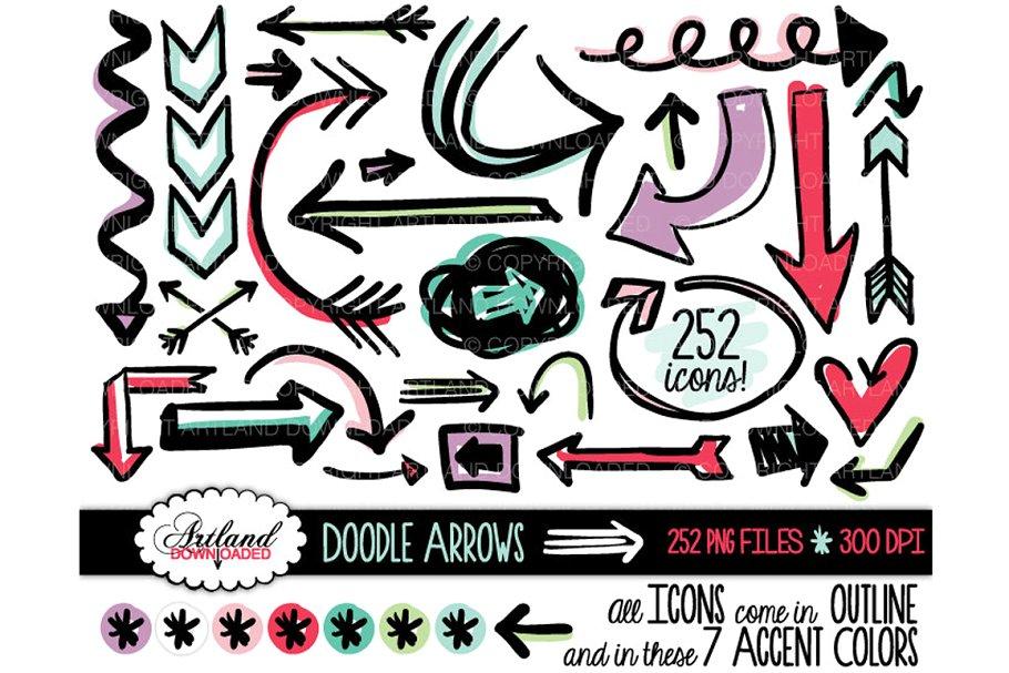 Arrow doodle clipart clip art free download Doodle Arrows Clipart Value Pack clip art free download