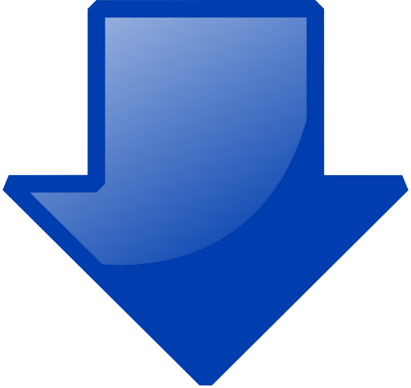 Arrow clipart down. Kid blue clip art