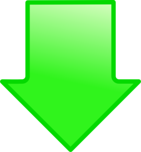 Kid green clip art. Arrow clipart down
