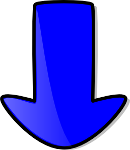 Blue clip art at. Arrow clipart down