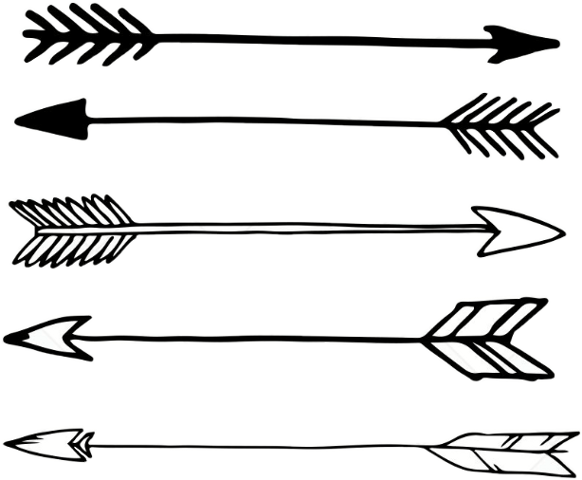 Arrow clipart drawing banner library download Line Art Arrow clipart - Arrow, Drawing, White, transparent clip art banner library download
