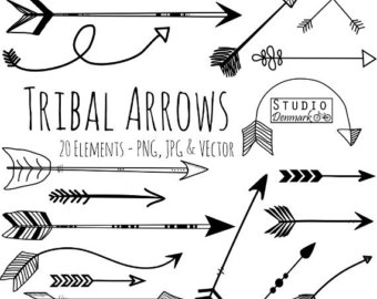 Arrow clipart free tribal image black and white Free tribal arrow clipart - ClipartFest image black and white