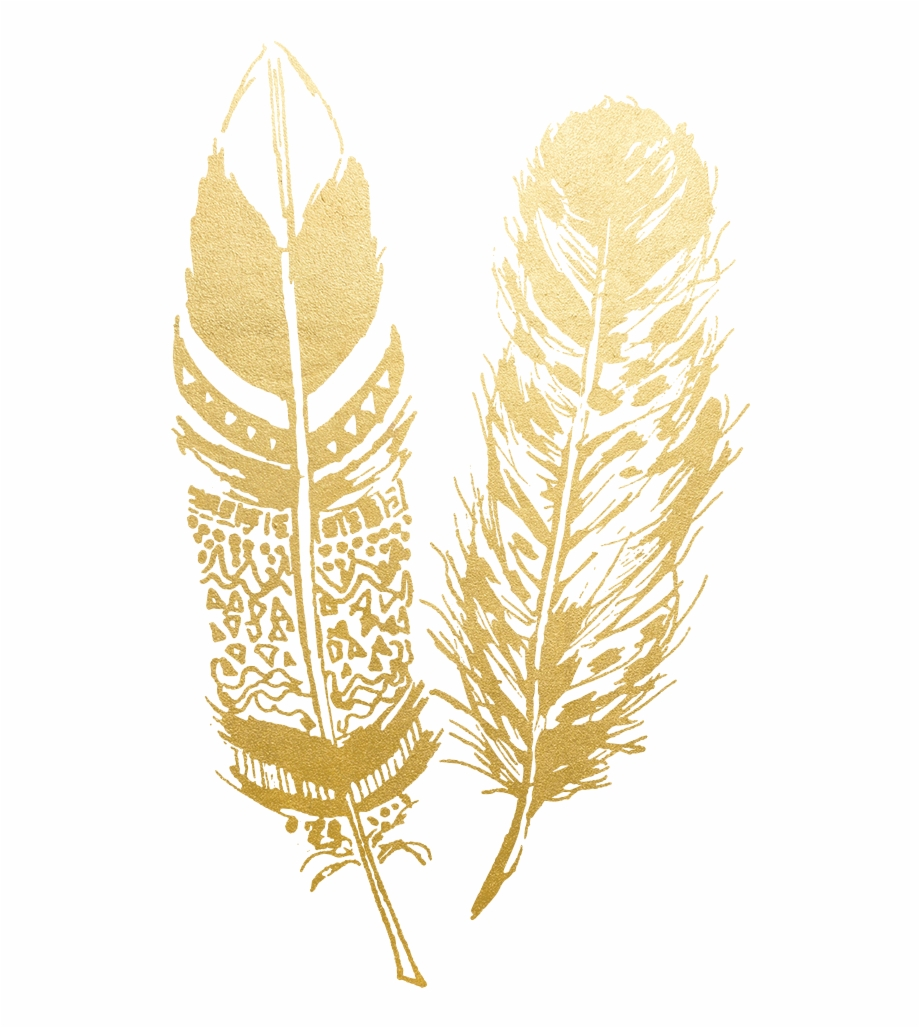 Arrow clipart gold feather png free Feathers Clip - Golden Feathers - indian feather png, Free PNG ... png free