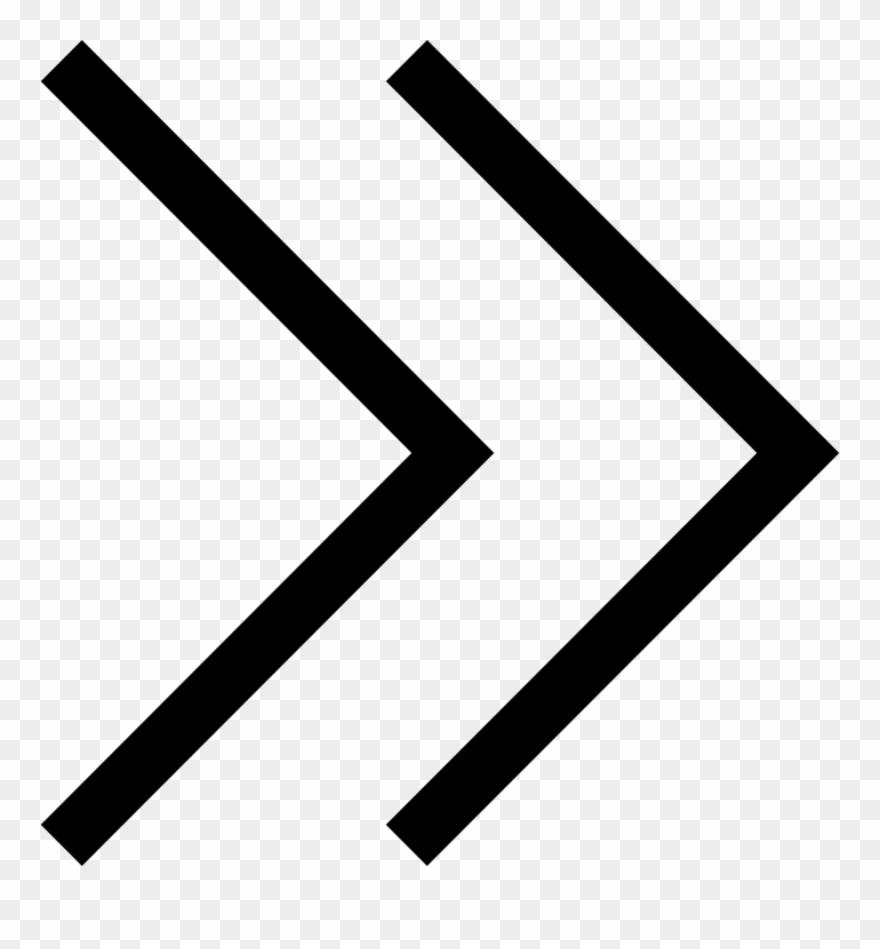 White arrow clipart icon