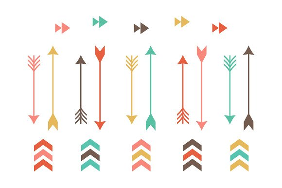Arrow clipart jpg jpg free download Tribal Arrow Clip Art ~ Illustrations on Creative Market jpg free download
