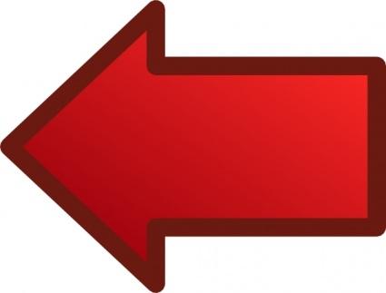 Clip art images red. Arrow clipart left