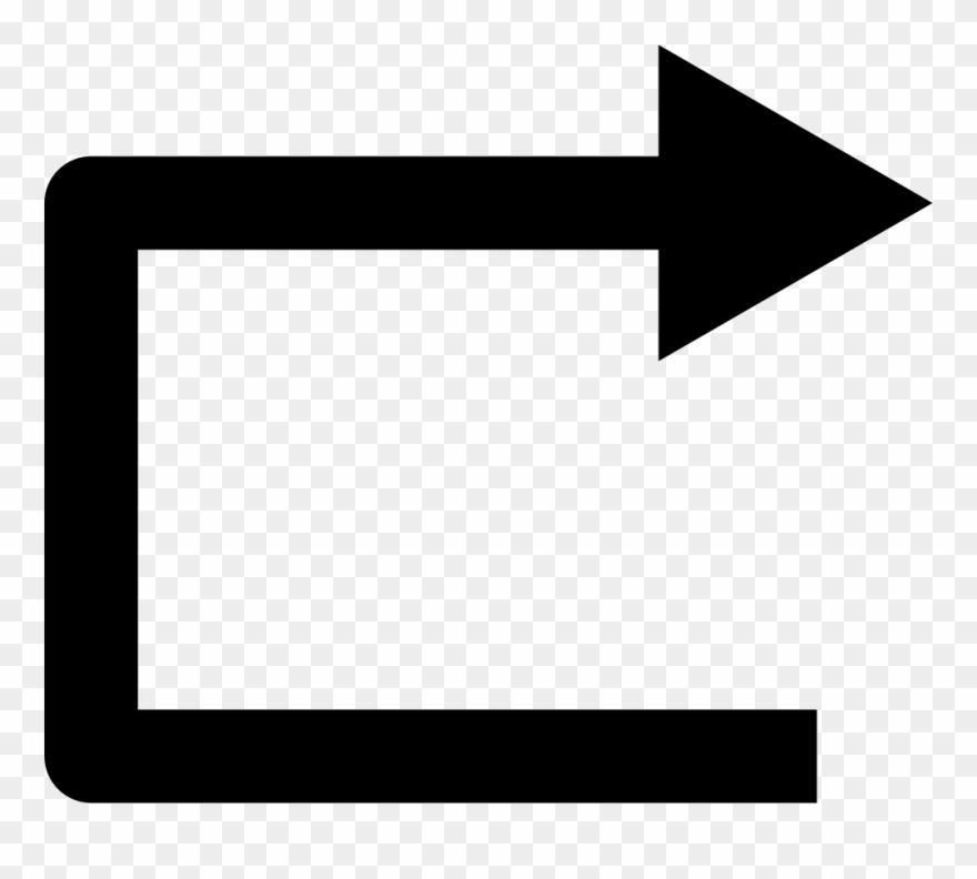 Arrow clipart right angle vector Right Straight Arrow Angle Symbol Comments - Straight Right Arrow ... vector
