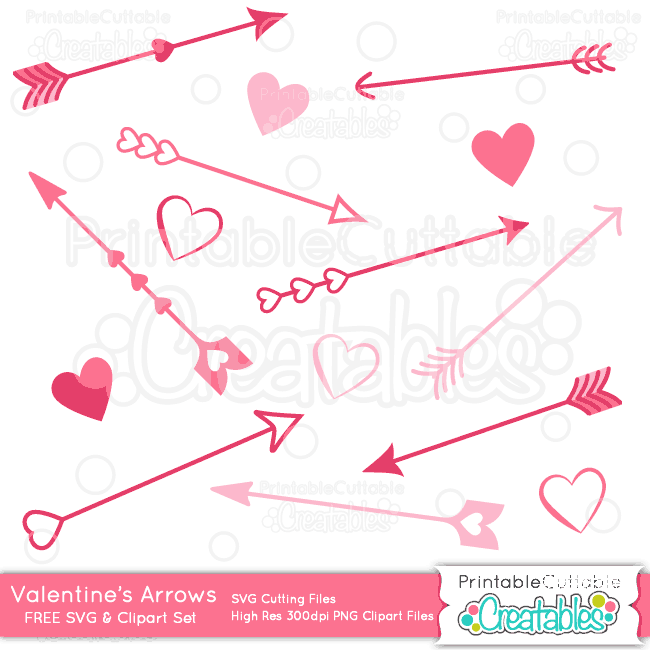 Arrow clipart svg royalty free library Valentine's Day Love Arrows SVG Cutting Files & Clipart royalty free library