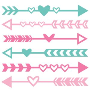 Arrow clipart svg png black and white library Valentine Arrow Set SVG scrapbook cut file cute clipart files for ... png black and white library