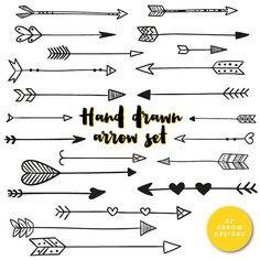 Arrow clipart tribal vector freeuse stock Arrows clip art, tribal arrow clipart, archery hand drawn arrows ... vector freeuse stock