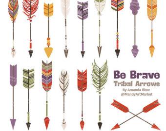 Arrow clipart tribal image free download Premium Bohemian Arrows Clip Art & Vectors Arrow Clipart image free download