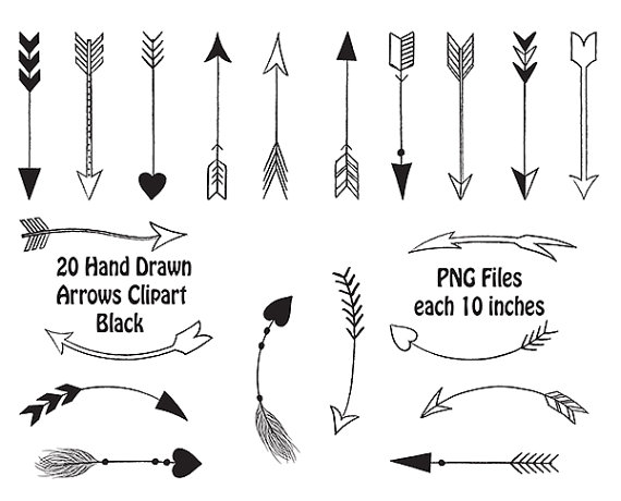 Arrow clipart tribal black and white image library library Tribal arrow clipart black and white - ClipartFest image library library