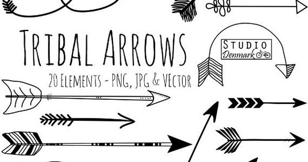 Arrow clipart tribal black and white png free Tribal Arrow Clipart and Vectors - Hand Drawn Arrow Clip Art ... png free