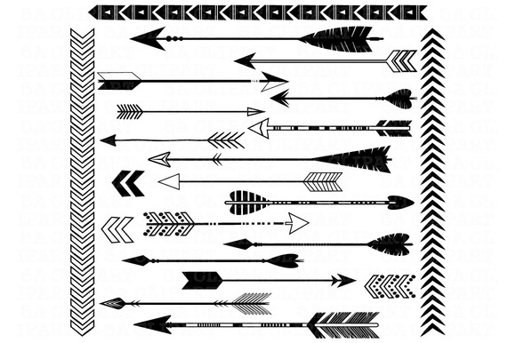 Arrow clipart tribal black and white graphic library library Tribal arrow clipart black and white - ClipartFest graphic library library