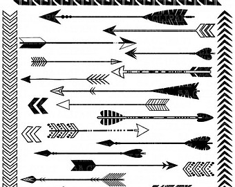 Arrow clipart tribal black and white image freeuse Tribal arrow clipart black and white single - ClipartFest image freeuse
