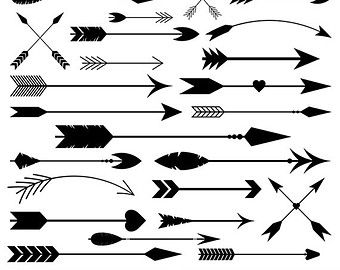 Arrow clipart tribal black and white graphic freeuse stock Arrows clip art tribal arrow clipart archery by GraphicPassion ... graphic freeuse stock