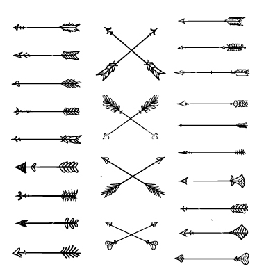 Arrow clipart tribal black and white clip Aztec tribal arrow clipart - ClipartFest clip