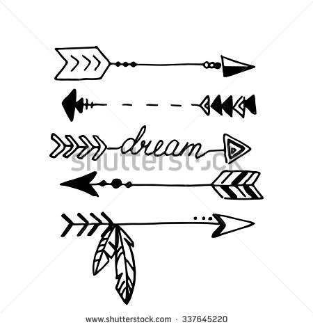 Arrow clipart tribal black and white jpg free stock Tribal Arrow Clipart Black And White - clipartsgram.com jpg free stock