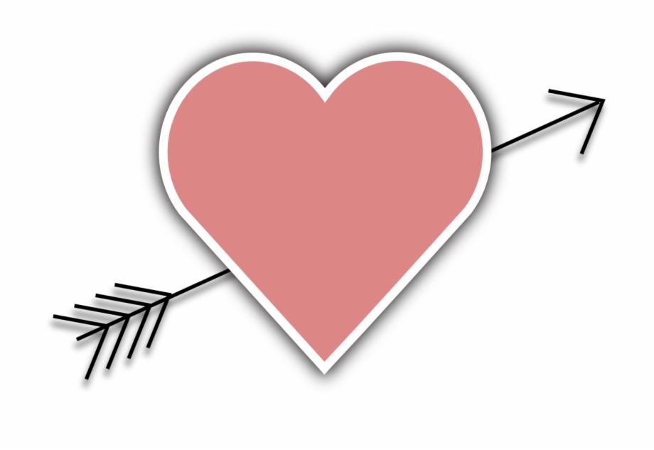 Arrow clipart wiht heart graphic black and white Wedding, Heart Arrow Love Valentine Cupid February - Heart Arrow ... graphic black and white