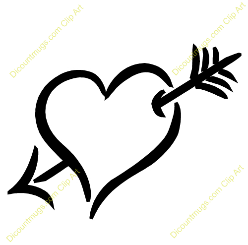 Arrow clipart wiht heart clipart royalty free download Heart and arrow clipart 1 » Clipart Station clipart royalty free download