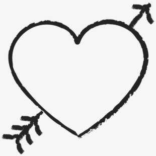 Arrow clipart wiht heart clip freeuse download Heart And Arrow Png - Heart With Arrow Clipart , Transparent Cartoon ... clip freeuse download
