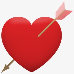 Arrow clipart wiht heart banner royalty free download Heart And Arrow Png - Heart With Arrow Clipart , Transparent Cartoon ... banner royalty free download
