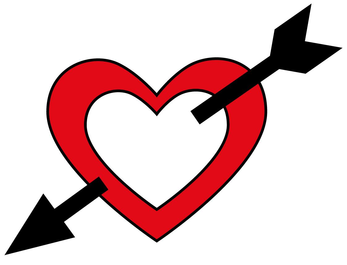 Arrow clipart wiht heart