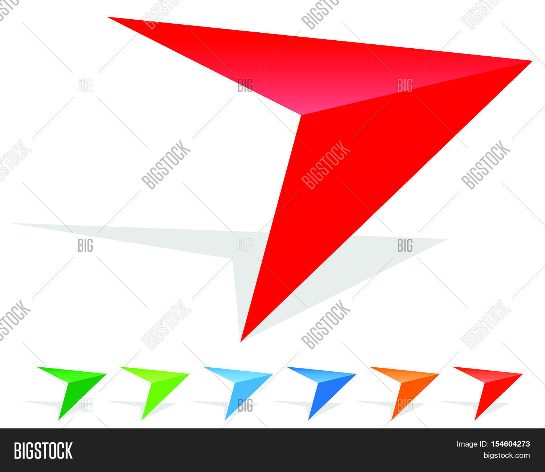 Arrow clipart with big arrowhead. Icon sharp edgy in