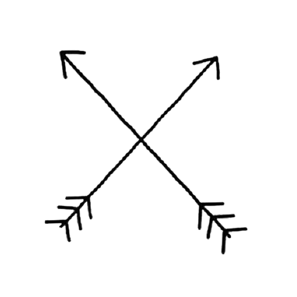 Cross arrow clipart. Sticker remixit crossed minimal