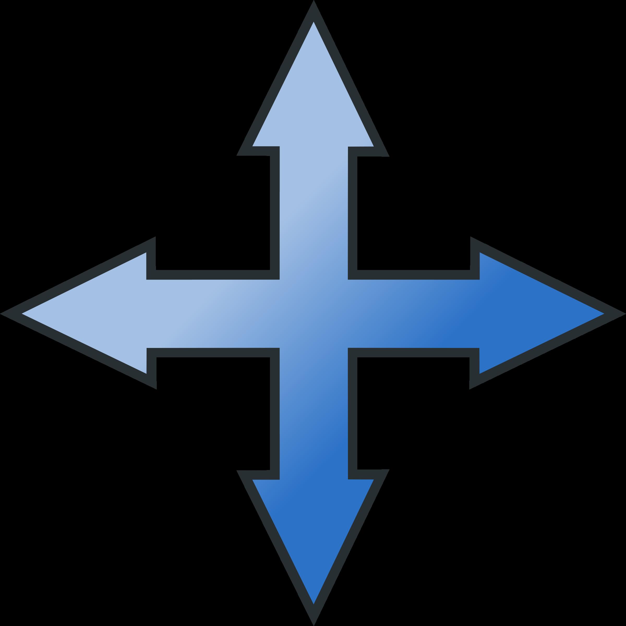 Arrow cross clipart jpg library stock Clipart - Move or Resize Arrow Icon jpg library stock