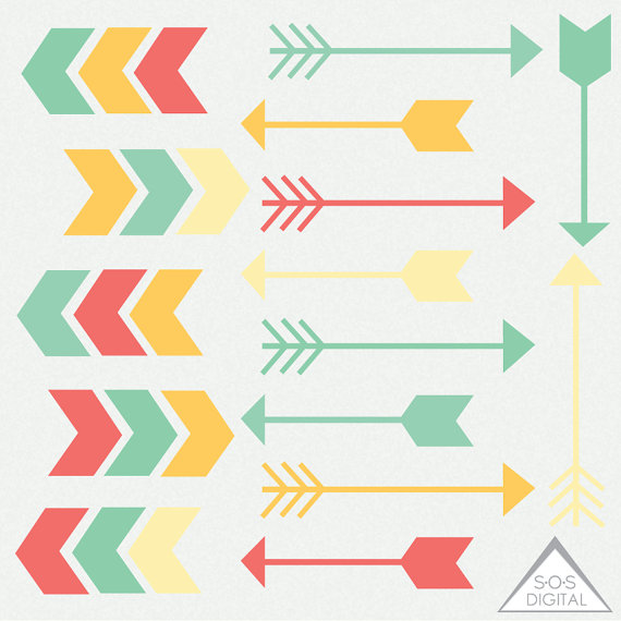 Digital Arrow Clipart Yellow Clipart Arrows Cute Green vector royalty free download