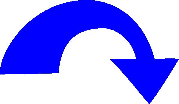 Blue clip art at. Arrow cycle clipart