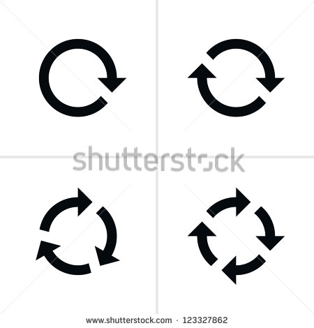 Circle stock images royalty. Arrow cycle clipart black and white