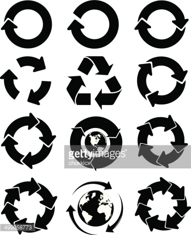 Arrow cycle clipart black and white graphic free Black And White Arrows Cycle Kit Vector Art | Getty Images graphic free