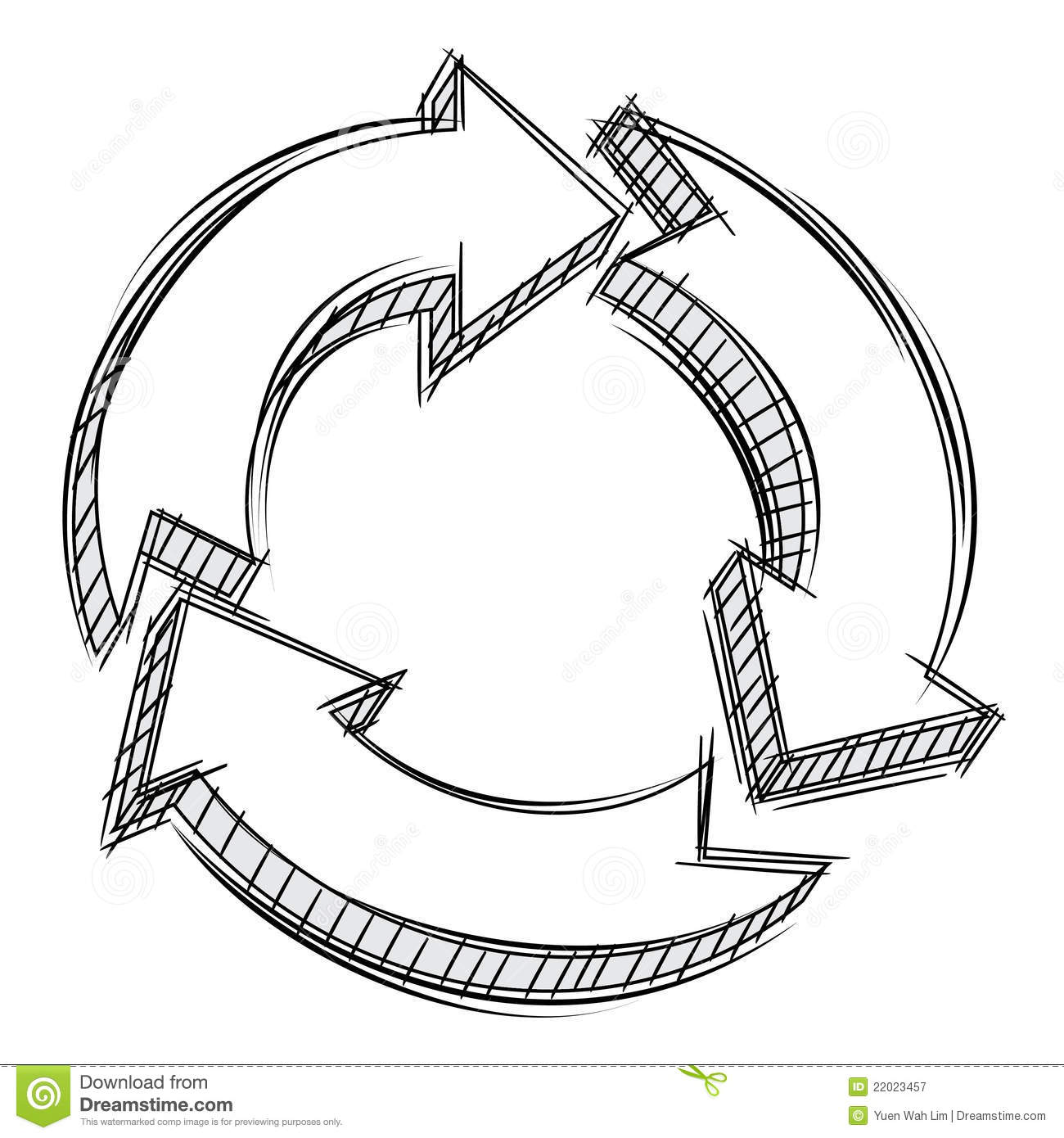 Arrow cycle clipart three banner free Doodle Of Three Circular Arrows Royalty Free Stock Photography ... banner free