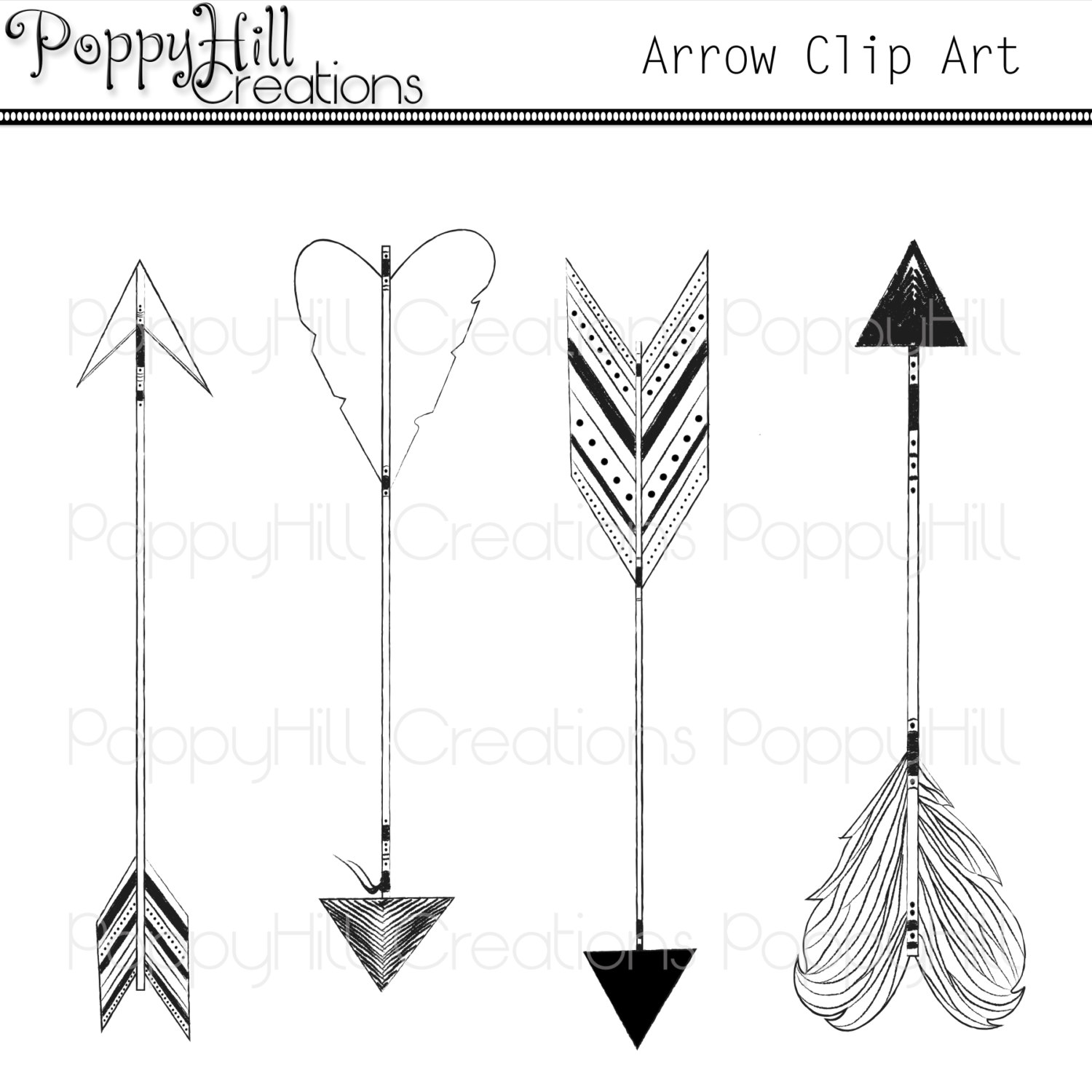 Arrow designs clip art jpg library download Aztec arrow clipart | Etsy jpg library download