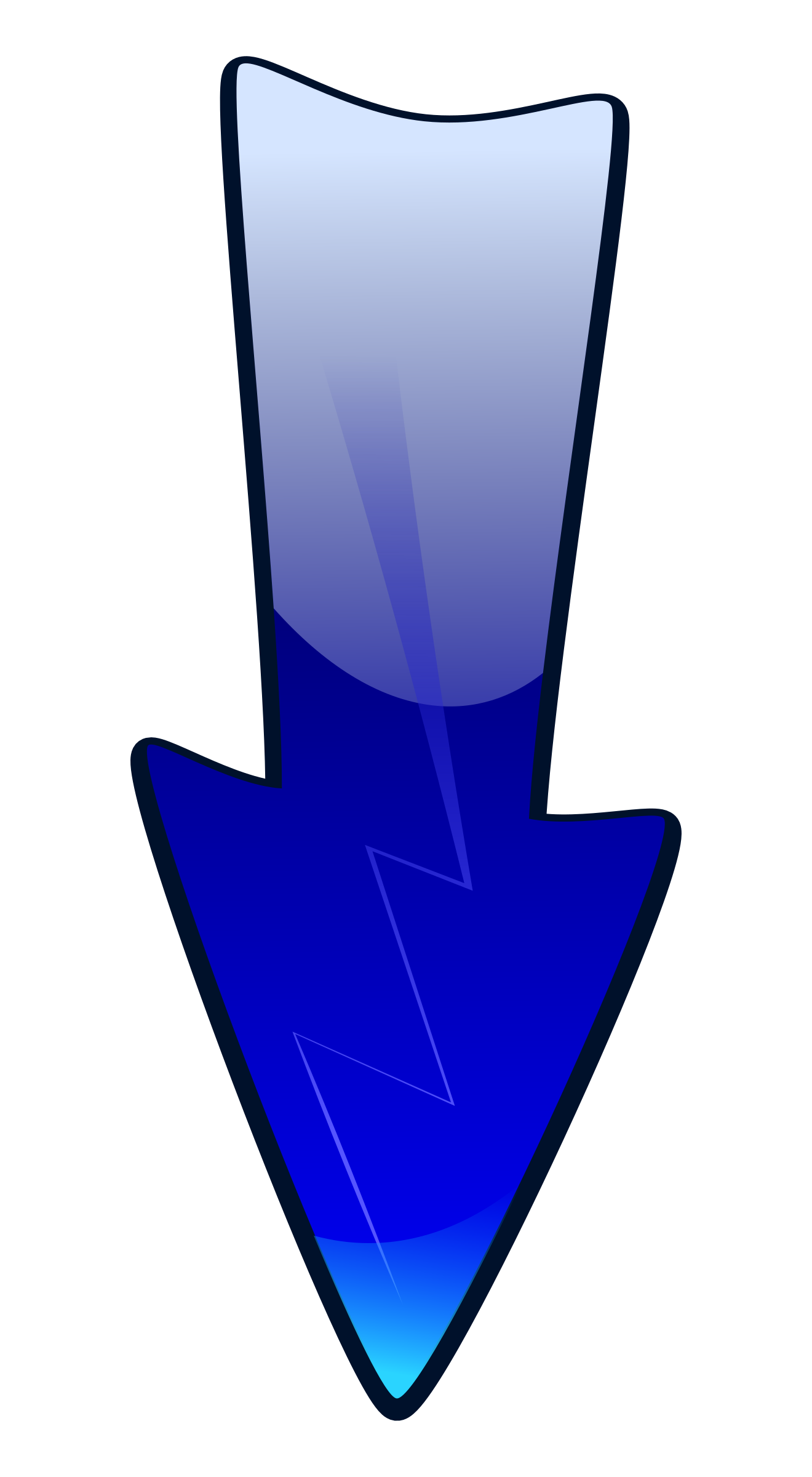 Arrow down clip art transparent download Clipart - Long Arrow Down transparent download