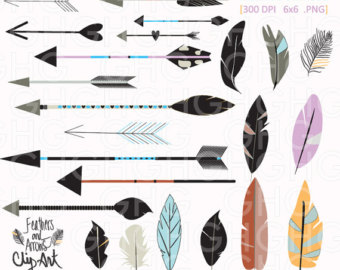 Arrow feather images clipart transparent library Feather Arrow Clipart - Clipart Kid transparent library