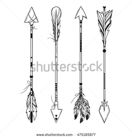 Arrow feather images clipart jpg black and white library Arrow Feather Stock Images, Royalty-Free Images & Vectors ... jpg black and white library