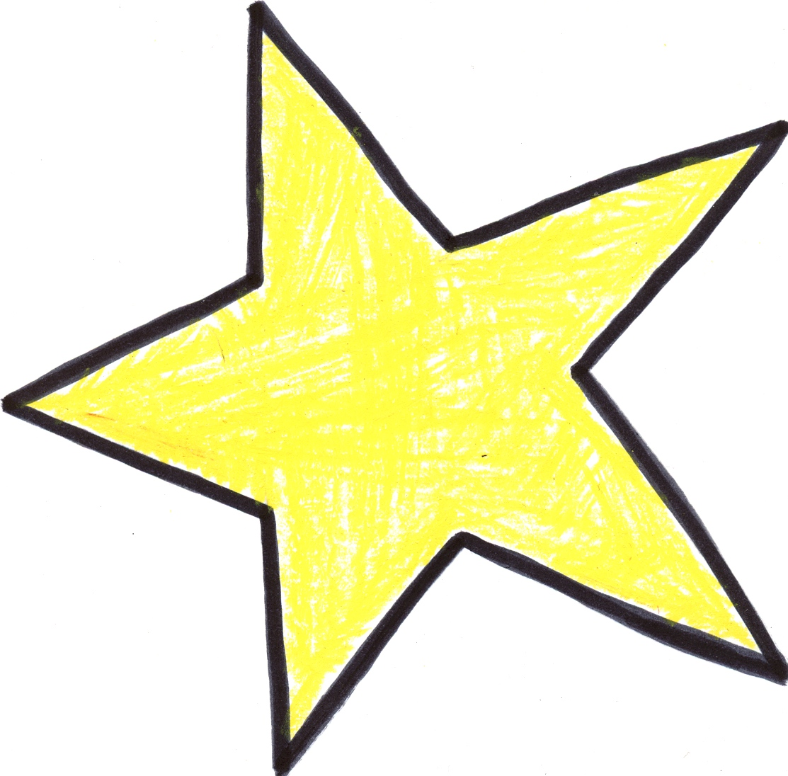 Arrow filled with stars clipart. Large hand drawn star