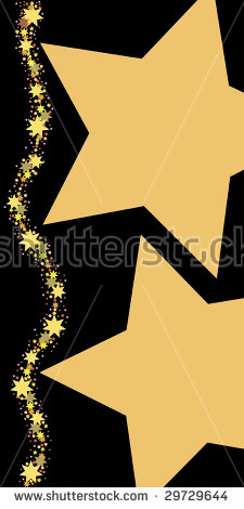 Arrow filled with stars clipart. Starline stock vectors vector