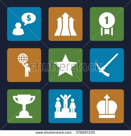 Arrow filled with stars clipart. Holding award stock photos
