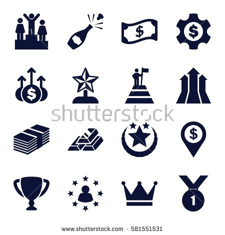 Surrounded by money stock. Arrow filled with stars clipart