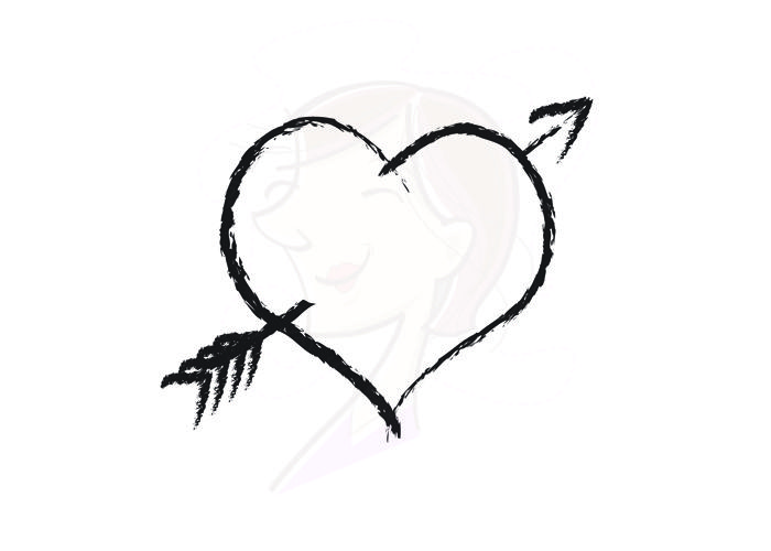 Arrow fledth clipart black graphic black and white download Black heart arrow clipart - ClipartFest graphic black and white download