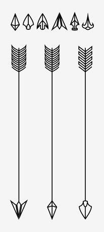 Arrow fletch clipart black transparent stock VECTOR Hand Drawn clipart arrows by burlapandlace on Creative ... transparent stock